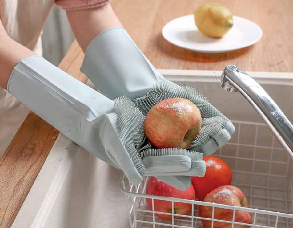 отлично отмывает продукты